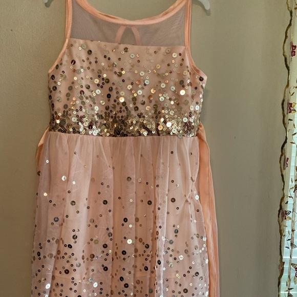 Peachy colored Emerald Sundae sequined dress Sz 7